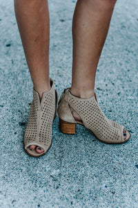 Celeste Open Toe Cutout Booties