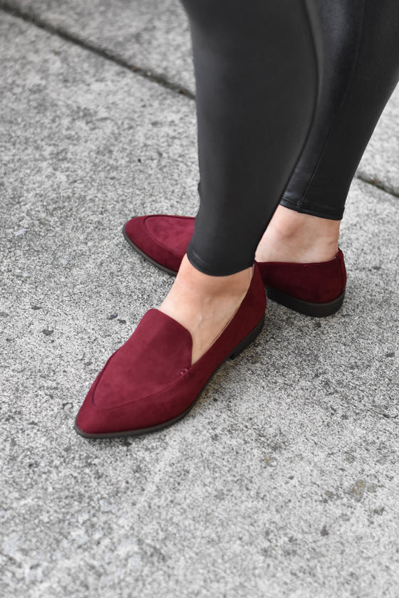 Elise Wine Loafers