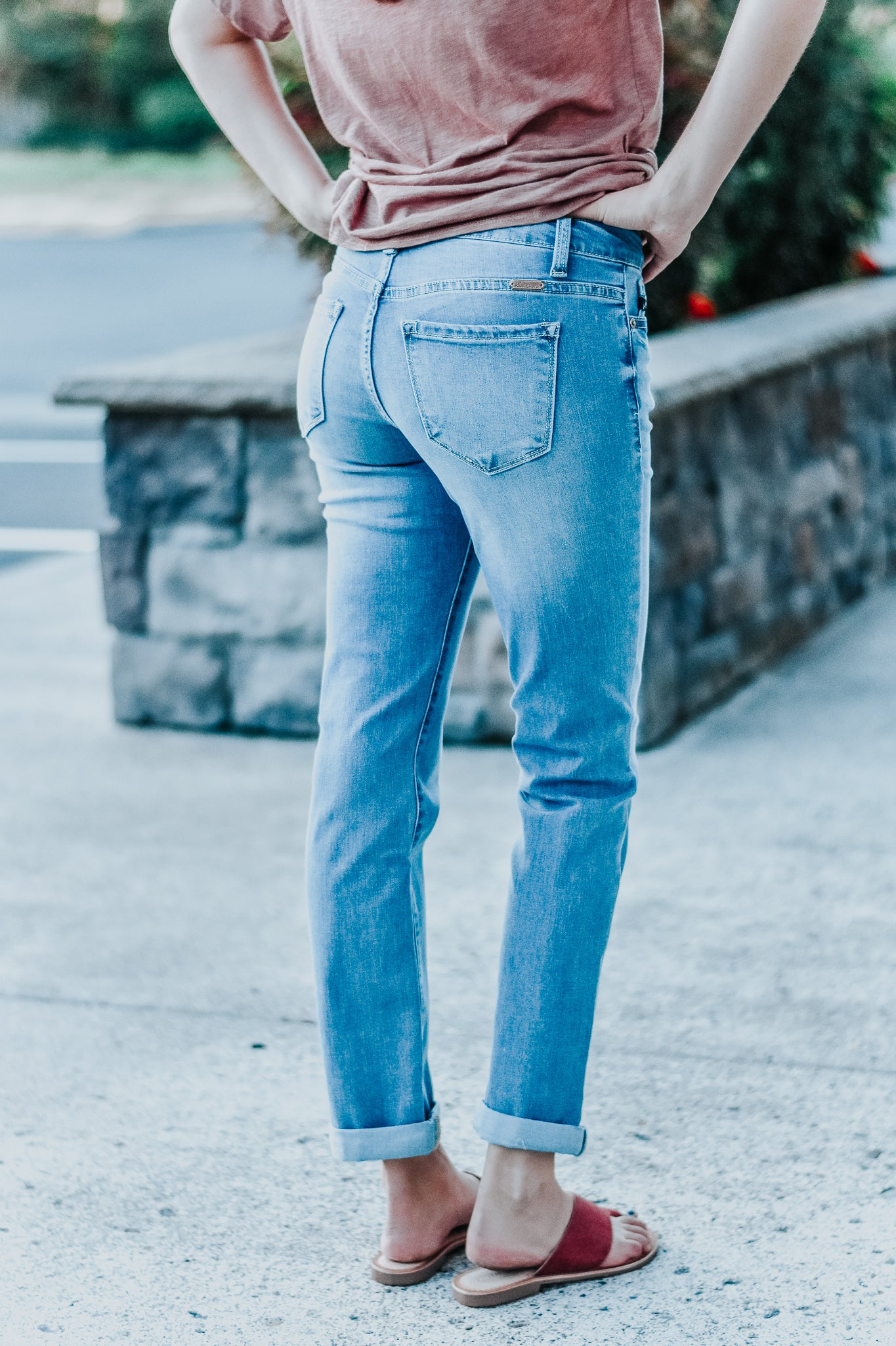 Aurora Light Wash Girlfriend Jeans