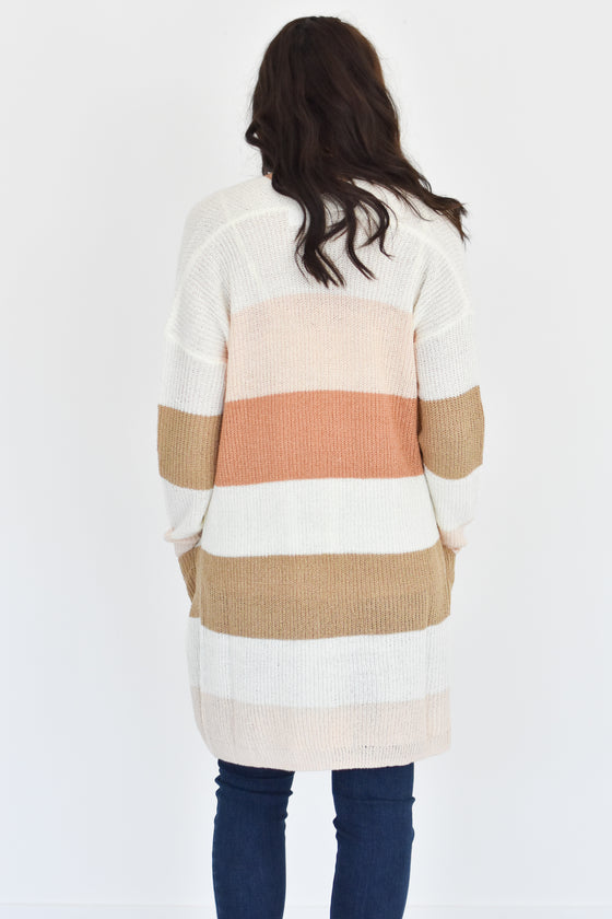 Justice Colorblock Cardigan