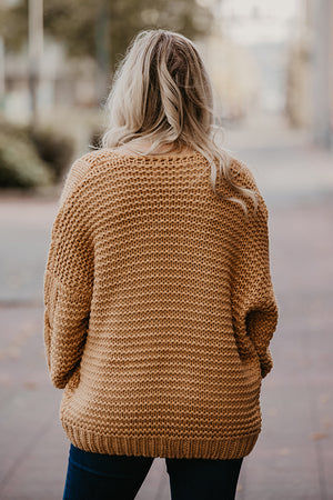 Dior Cable Knit Cardigan in Amber