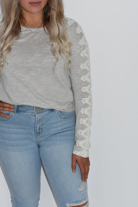 Clarissa Crochet Lace Top