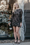Ellen Long Sleeve Black Lace Dress