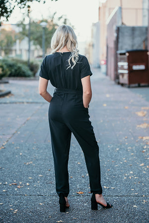 Esmeralda Black Formal Jumpsuit