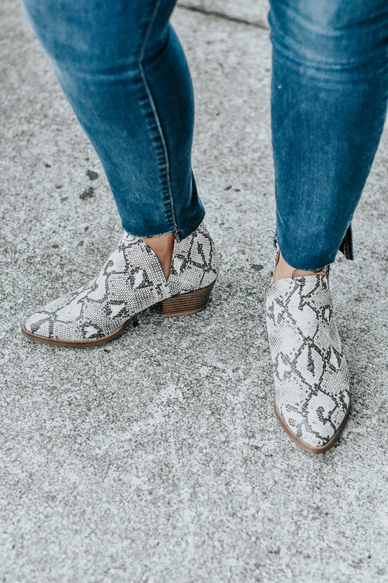 Esther Booties in Snake