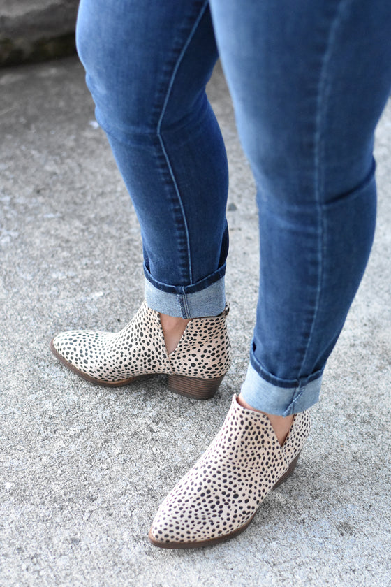 Esther Cheetah Booties