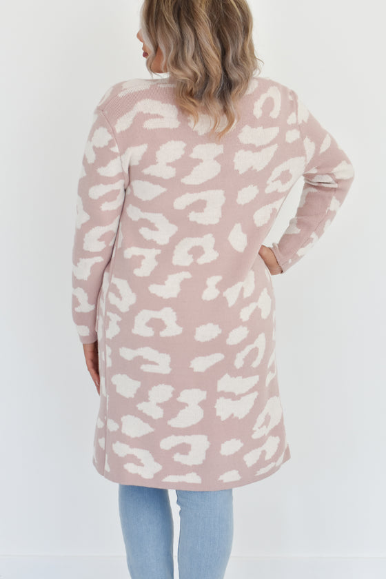 Giuliana Leopard Long Cardigan