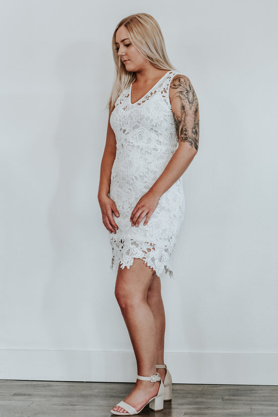 Gracie White Lace Dress