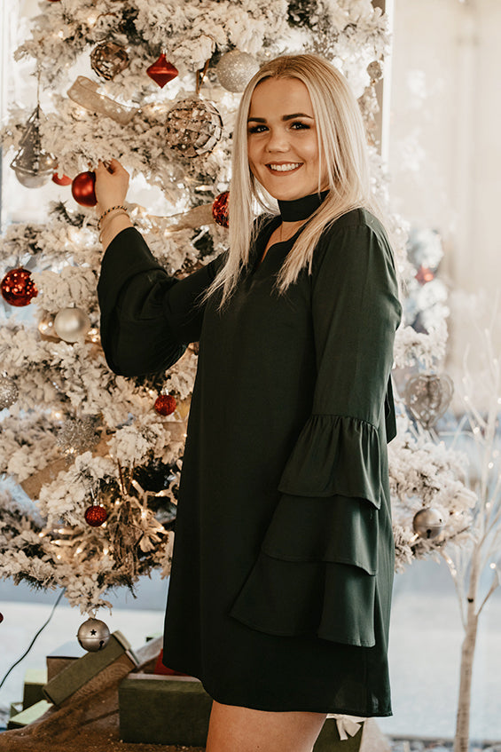 Hazel Deep Green Holiday Dress