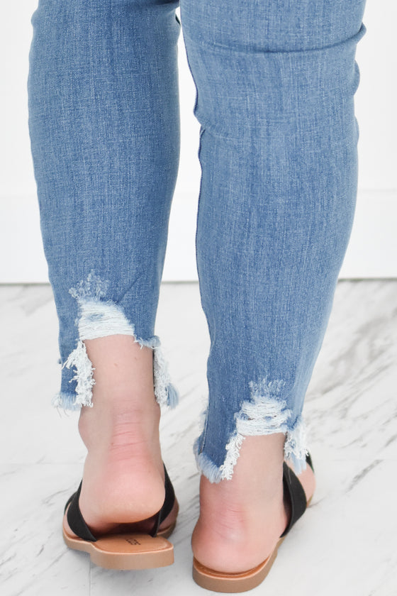 Jaliyah High Rise Ankle Skinny Jeans