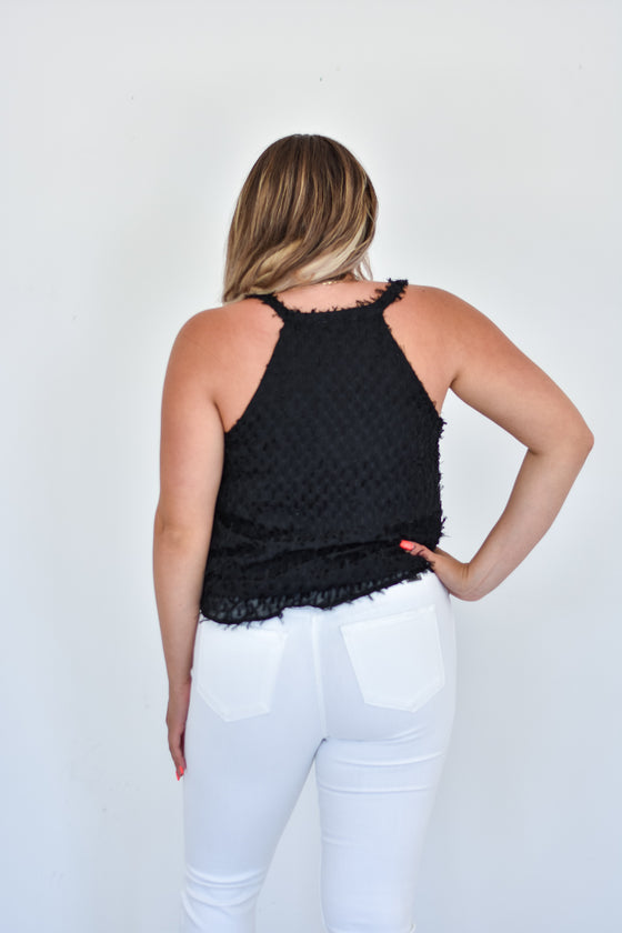 Joslyn Textured Cami in Black
