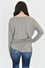 Kylee V Neck Sweater in Heather Mocha