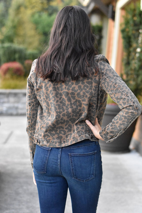 Lila Leopard Denim Jacket