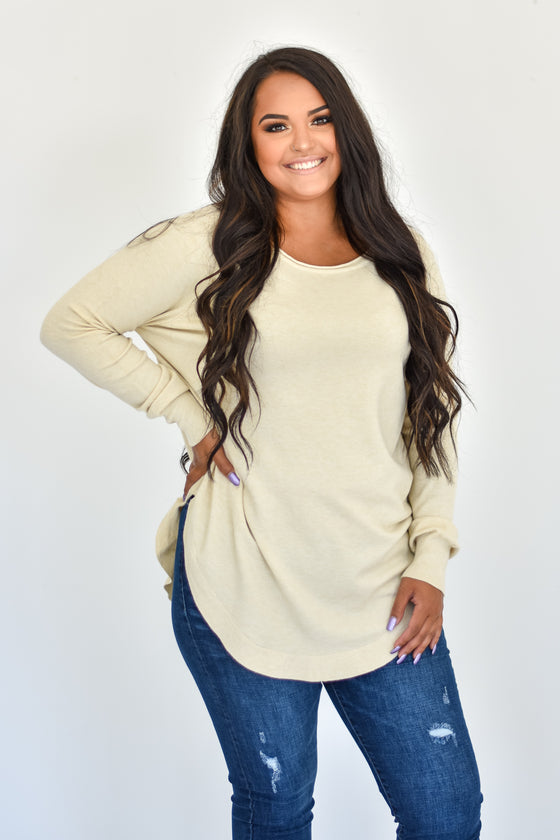 Novalee Round Neck Sweater in Oatmeal
