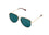 Quay High Key Mini Rimless Sunglasses in Gold/Teal