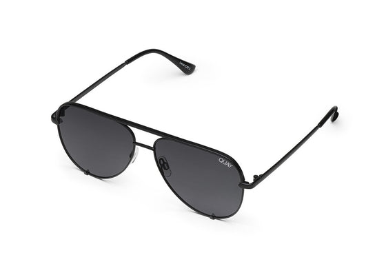 Quay High Key Sunglasses in Black/Smoke