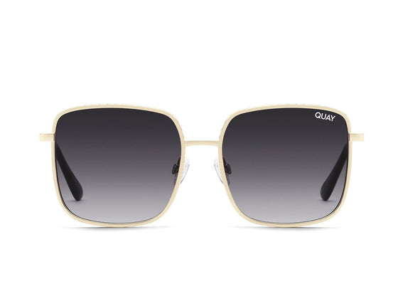 Quay Real One Sunglasses - Gold/Smoke