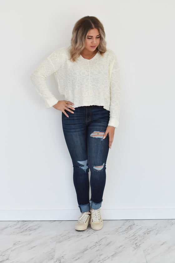 Samantha V Neck Sweater