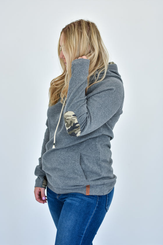 Treasure Grey Camo Double Hoodie