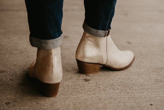 Casey Metallic Gold Booties