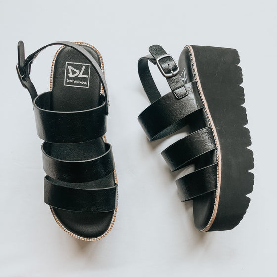 Aminah Black Platform Sandals