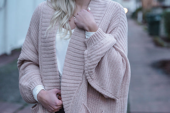 Ingrid Blush Cardigan