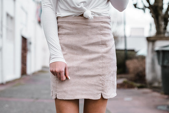 Ivanka Blush Scalloped Skirt