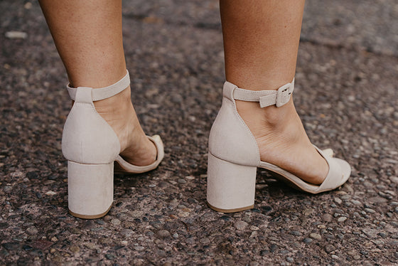 Nora Classic Strappy Heel in Nude