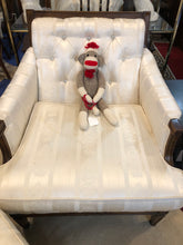 VINTAGE WHITE SOFA WITH MATCHING CHAIR