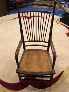 WALNUT & RATTAN CHAIR