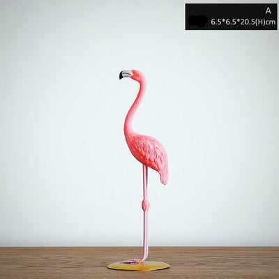 statue flamant rose