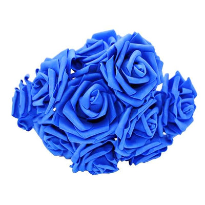 bouquet de rose artificielle bleu