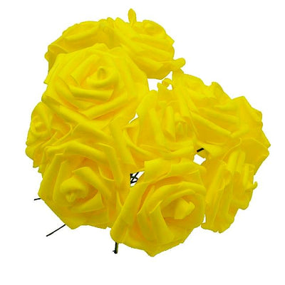 bouquet de rose artificielle jaune