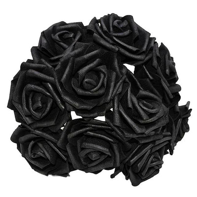 bouquet de rose artificielle noir