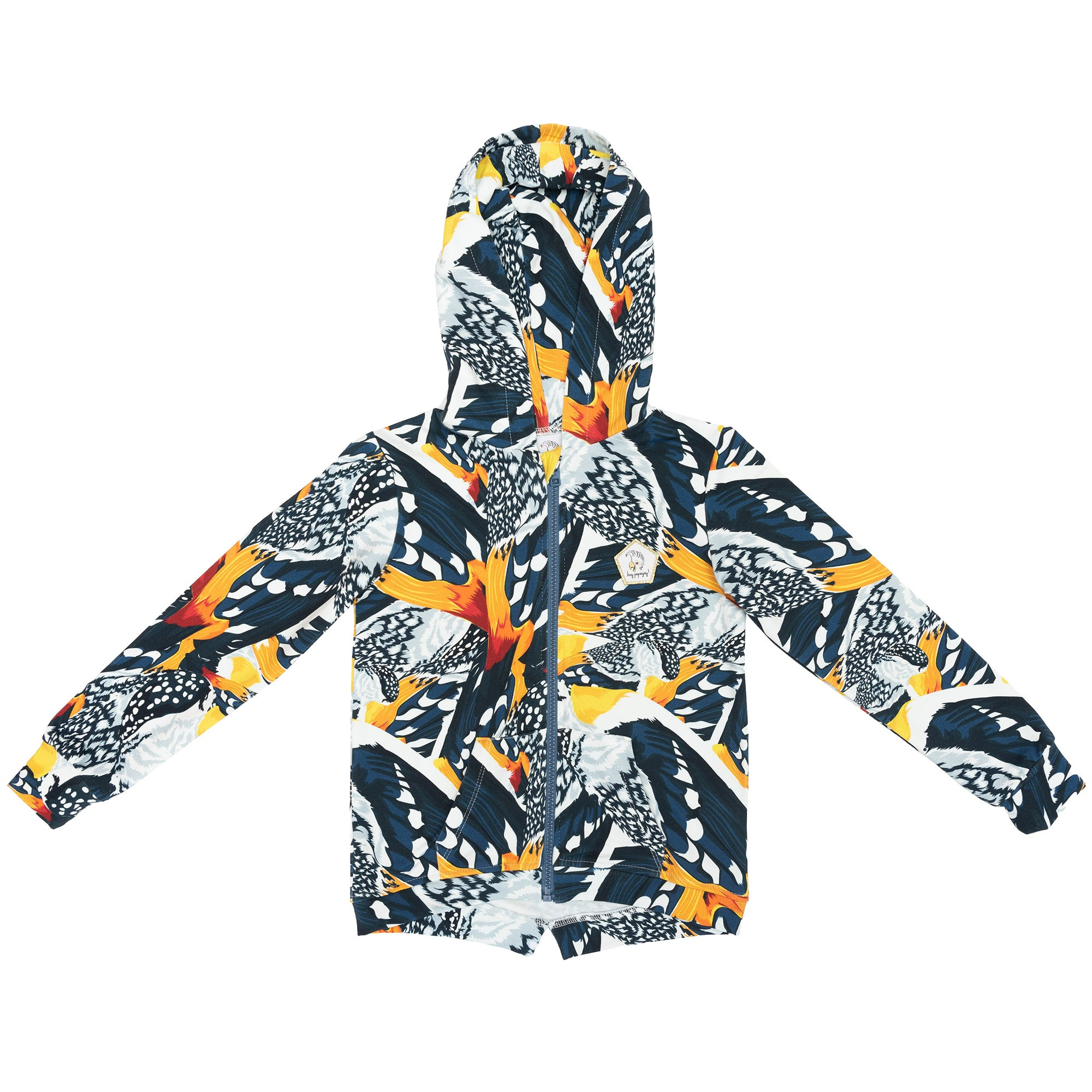 Winter bird feathers - Hoodie