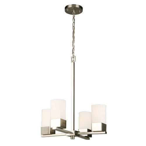 CIARA SPRINGS BRUSHED NICKEL FOUR-LIGHT CHANDELIER #202855A