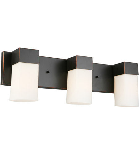 CIARA SPRINGS THREE LIGHTS OIL RUBBED BRONZED VANITY LIGHT #202863A
