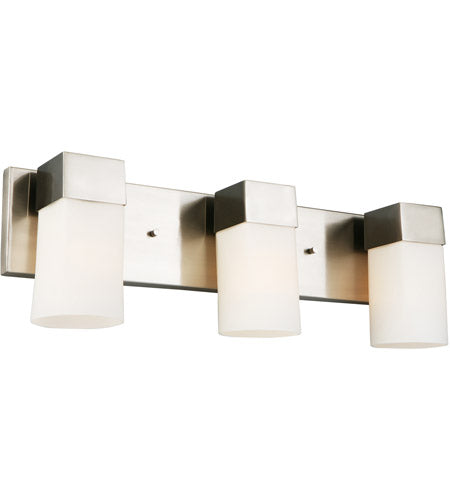 CIARA SPRINGS THREE LIGHTS BRUSHED NICKEL VANITY LIGHT #202864A