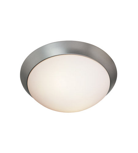 COBALT 11-I BRUSHED STEEL FLUSH MOUNT LIGHT #20624-BS/OP