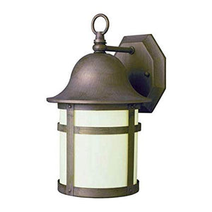 "1-LIGHT 12"" THOMAS OUTDOOR BRONZE WALL LIGHT #PL-4580WB"