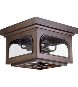 2-LIGHT OUTDOOR CEILING LANTERN IN BRONZE / DARK FINISH #3603-13-86