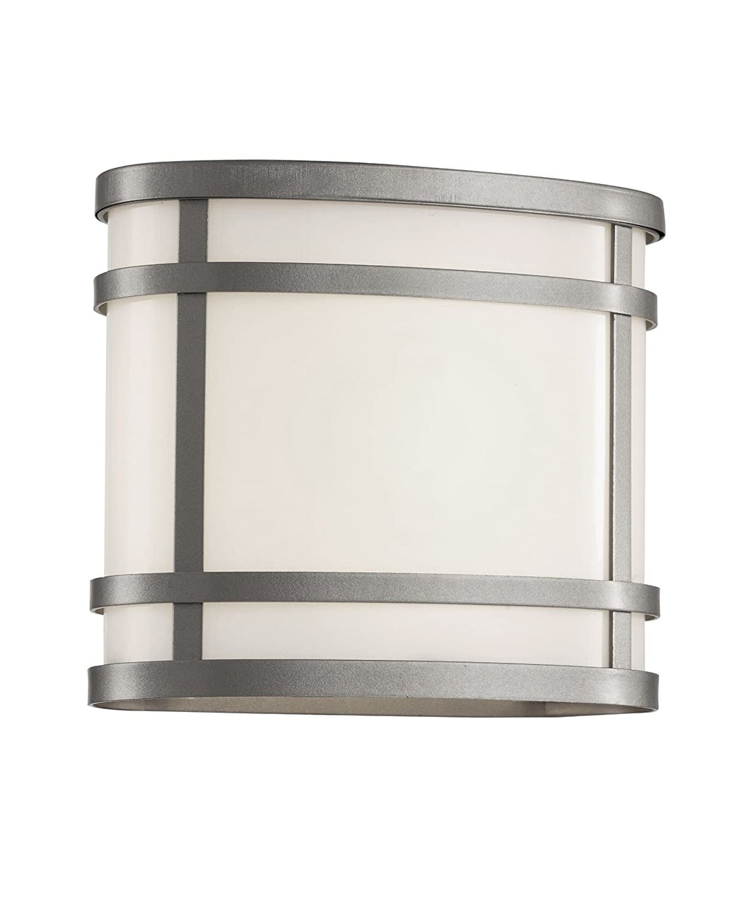ZEPHYR 1-LIGHT 8 INCH SILVER OUTDOOR WALL LANTERN IN FROSTED GLASS #40200-SL