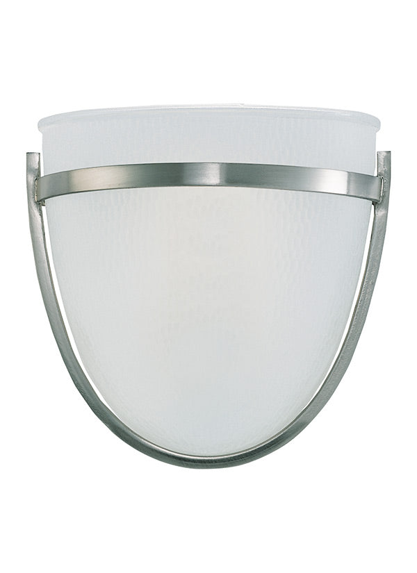 ONE LIGHT WALL/BATH SCONCE BRUSHED NICKEL #41115-962
