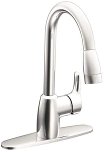 BAYSTONE CHROME ONE-HANDLE PULLOUT KITCHEN FAUCET - MOEN #CA42519