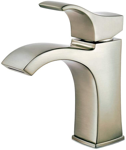 VENTURI SINGLE CONTROL BATHROOM FAUCET WITH PUSH & SEAL™ SPOT DEFENSE BRUSHED NICKEL #LF-042-VNGS
