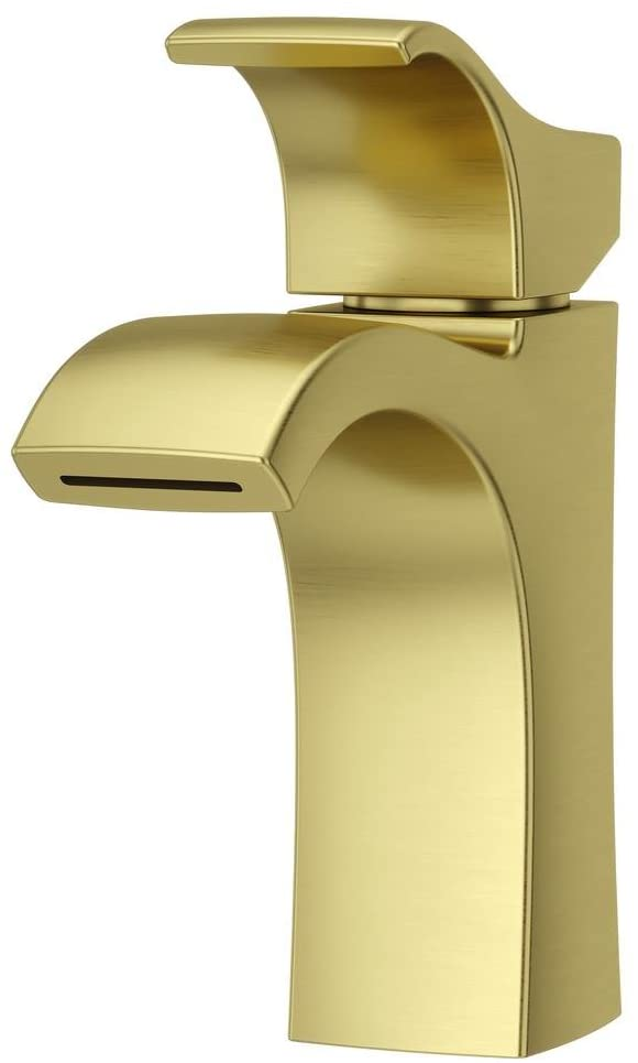 VENTURI SINGLE CONTROL BATHROOM FAUCET WITH PUSH & SEAL™ BRUSHED GOLD #LF-042-VNBG