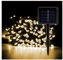 LED SOLAR WARM WHITE CHRISTMAS OUTDOOR STRING LIGHTS 72FT / 200 LEDS