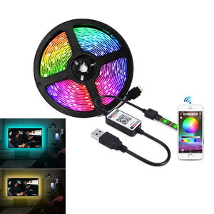 WIFI / USB 16FT CABLE POWER FLEXIBLE RGB TV STRIP BLUETOOTH TV BACKGROUND LIGHTING