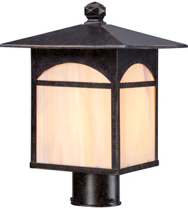 1-LIGHT CANYON 13 INCH POST LIGHT IN UMBER BRONZE FINISH #60-5755