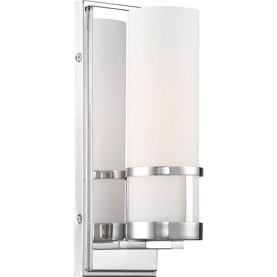 CARYLE - 1 LIGHT VANITY - WITH ETCHED OPAL GLASS - POLISHED NICKEL FINISH #60-6788